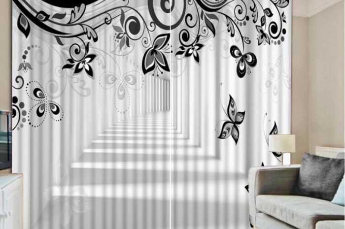 Черно-белые шторы — ТОП-180 фото и видео-обзоры черно-белых штор в интерьере гостиной, кухни, спальни. Сочетание цветов и фактур ткани