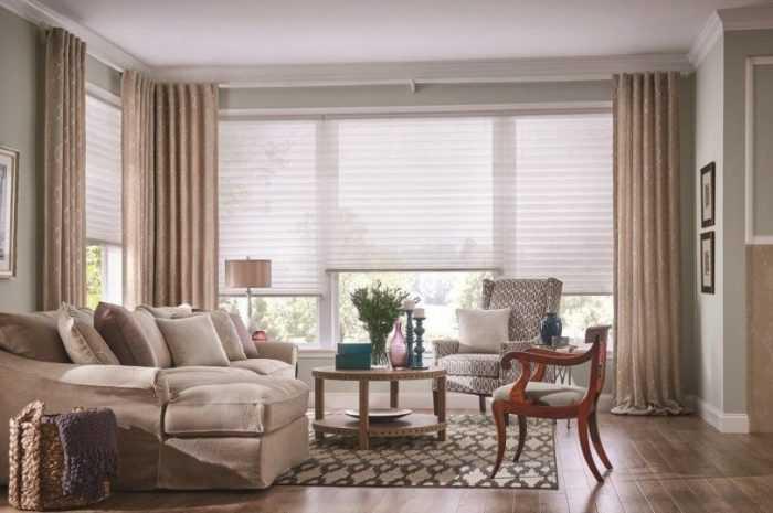 Комбинированные шторы — достоинства и особенности комбинированных штор. Правила сочетаний цветов и тканей (фото + видео)