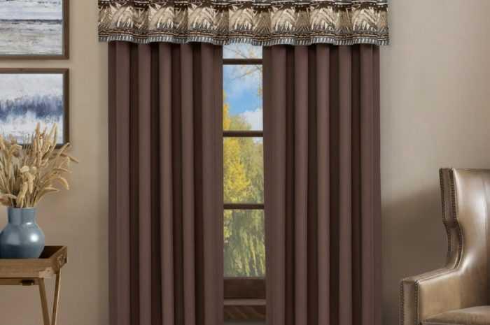 Коричневые шторы: достоинства применения штор коричневых тонов. Виды штор, материалов и оттенков коричневого цвета (фото + видео)