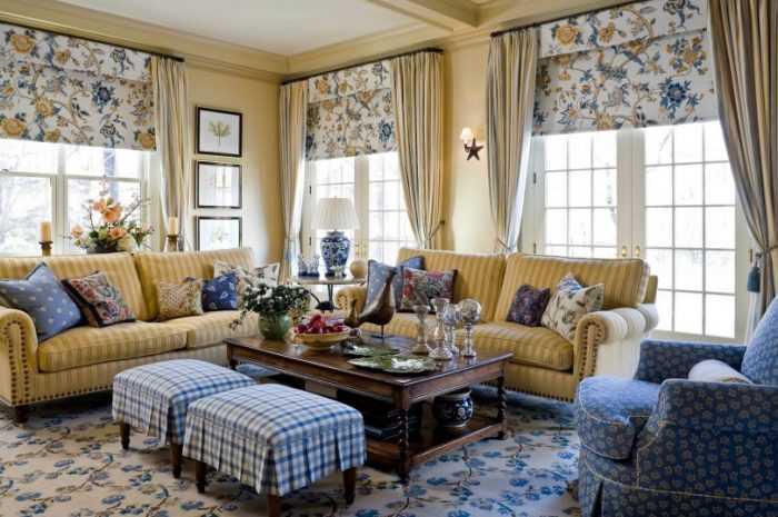 Шторы в стиле кантри — выбор материала ткани,  варианты штор в стиле кантри. Шторы в кухню, спальню, гостиную и детскую (180 фото + видео-примеров)