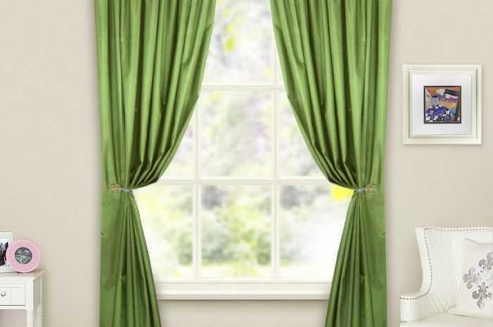 Зеленые шторы: особенности использования зеленых тонов для дизайна штор. Сочетания цветов и элементов интерьера с зелеными шторами (фото + видео)